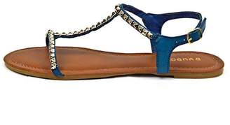Bamboo Studded T-Strap Sandal $38.20 thestylecure.com