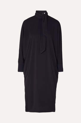 Max Mara Crepe Midi Dress - Navy