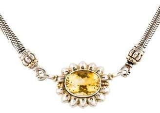 Lagos Caviar Citrine Collar Necklace