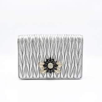 Miu Miu Miu Cristal leather clutch bag