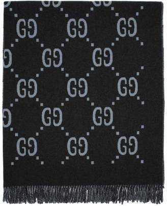Gucci Reversible Grey GG Poncho