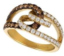 LeVian Chocolatier Vanilla Diamond, Chocolate Diamond and 14K Honey Gold Ring