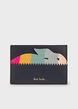 Paul Smith Women's Navy 'Swirl Rabbit' Leather Card Holder