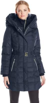 Kensie Outerwear Women's Long Down Coat with Hood