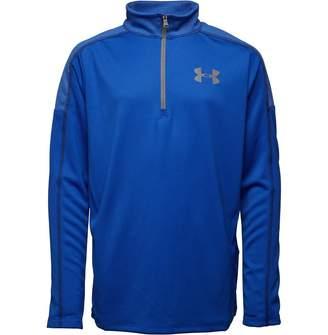 Under Armour Boys Tech 12 Zip Long Sleeve Top Blue