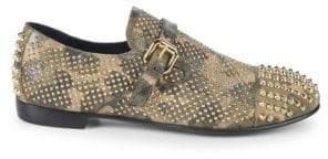 Giuseppe Zanotti Camouflage Studded Loafers