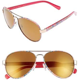 Lilly Pulitzer R) Ainsley 59mm Polarized Aviator Sunglasses