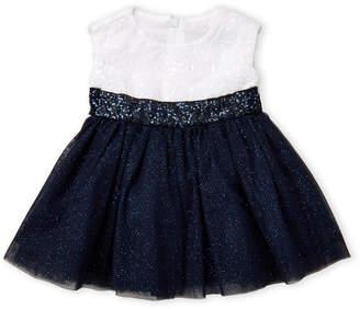 Dorissa (Infant Girls) Embroidered Glitter Tulle Dress