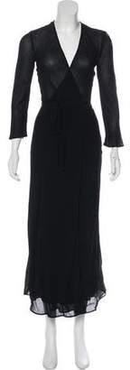 Reformation Long Sleeve Wrap Dress