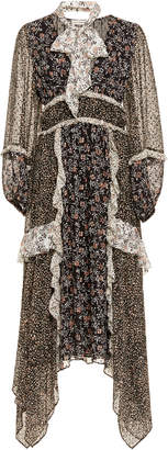 Ulla Johnson Primrose Asymmetrical Silk Ruffle Dress