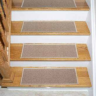Ottomanson Skid-Resistant Rubber Backing Non-Slip Carpet Stair Treads-Machine Washable Area Rug(Set of 7)