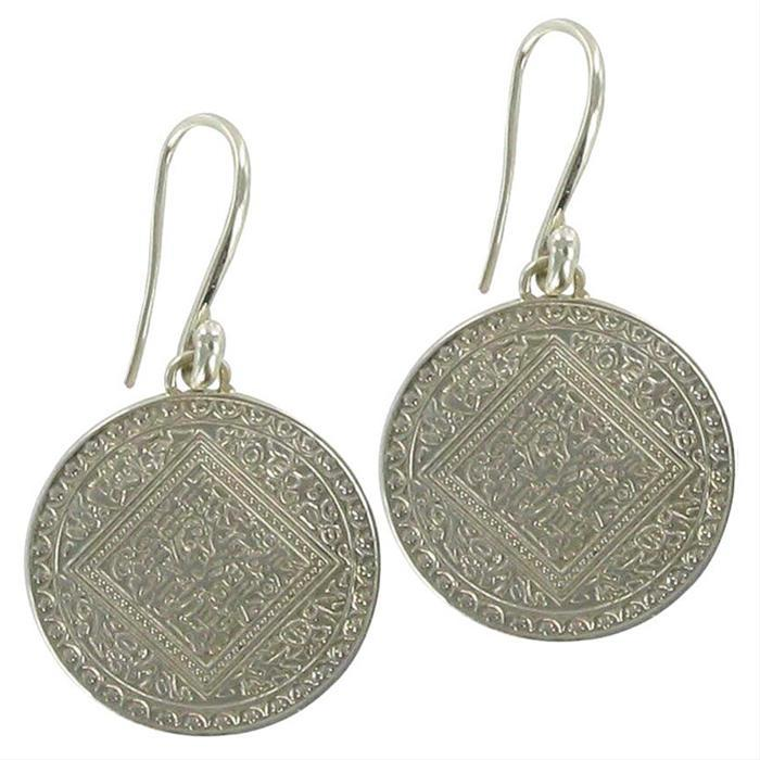 Silver Disc Earrings by Monica Vinader