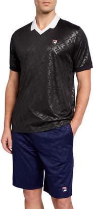 Fila Men's Paxton Vintage V-Neck Polo Shirt