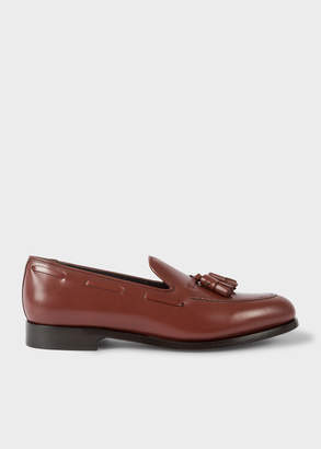 Paul Smith Men's Burgundy Leather 'Simmons' Tasseled Loafers