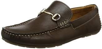 Steve Madden Footwear Men's Greyson Loafer Moccasins, (Brown), 42 EU