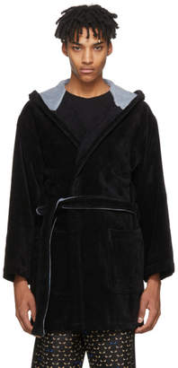 Fendi Black Bag Bugs Bath Robe