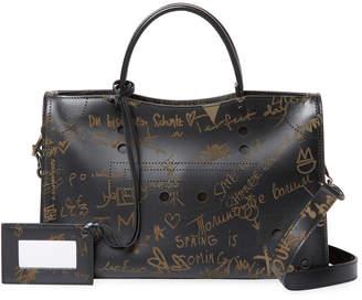Balenciaga Blackout City Love Mini Leather Shoulder Bag