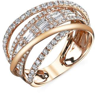 SHAY Baguette Diamond Orbit Ring - Rose Gold