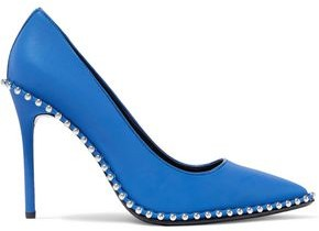 Alexander Wang Rie Studded Iridescent Shell Pumps