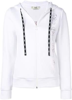Fendi hooded zipped jacket