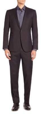 Strellson Travel Glen Check Virgin Wool Suit