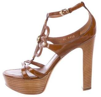 Louis Vuitton Patent Leather Platform Sandals