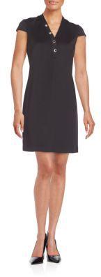 Grommet-Trimmed Dress $128 thestylecure.com