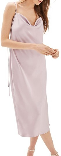 Topshop Women's Topshop Bride Cowl Neck Midi Dress
