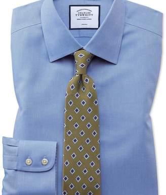 Charles Tyrwhitt Extra slim fit non-iron royal Panama blue shirt