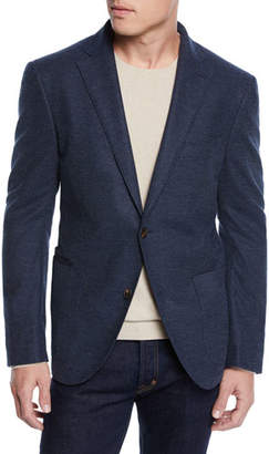 Luciano Barbera Men's Textured Solid Unconstructed Blazer