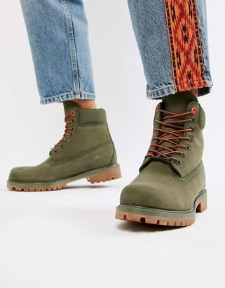 Timberland 6 Inch Premium boots in khaki