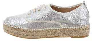 Loeffler Randall Metallic Lace-Up Espadrilles w/ Tags