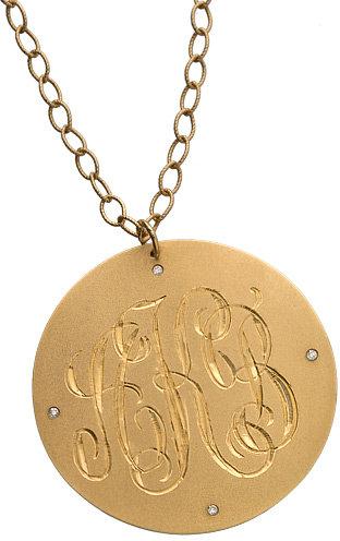 Brian Danielle Large Gold Monogram Necklace