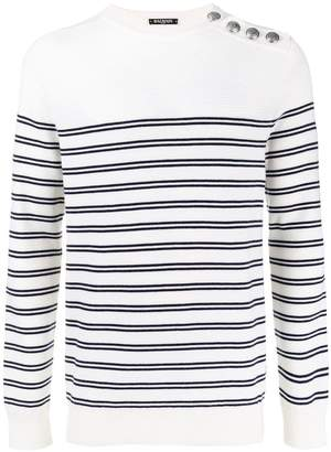 Balmain sailor stripes knit jumper