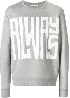 Valentino designer print sweatshirt