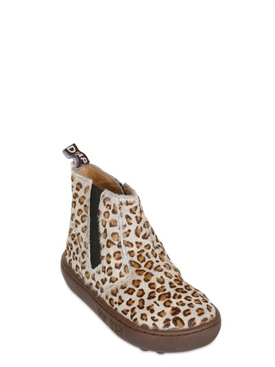 Pom D'Api Leopard Printed Ponyskin Ankle Boots