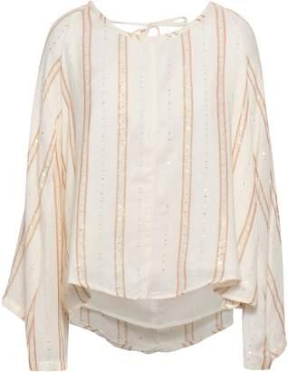 SUNDRESS Embellished Cotton-gauze Top