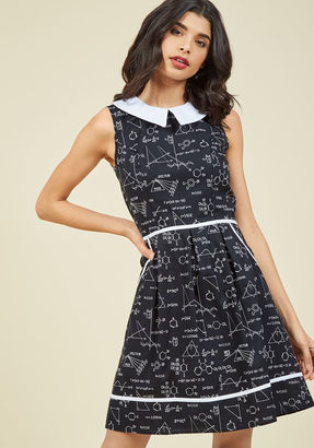 ModCloth All Eyes on Unique A-Line Dress in Science in 4X $89.99 thestylecure.com