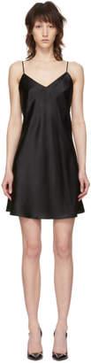 Simone Perele Black Silk Dream Slip Dress