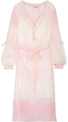 Lemlem Berhan Embroidered Dégradé Cotton-gauze Dress - Baby pink