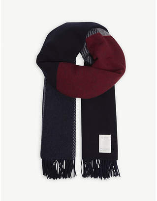 Rag & Bone Mixed check wool-blend scarf