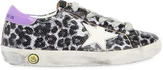 Golden Goose Super Star Leopard Print Leather Sneaker