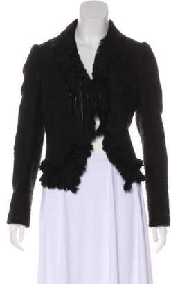 Ungaro Tweed Notch-Lapel Blazer