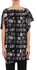 Zero Maria Cornejo Women's IQ Book-Print Stretch-Silk Tunic - Black