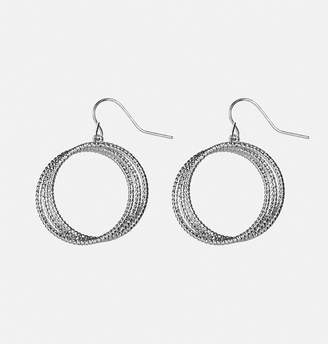 Avenue Interwined Textured Hoop Earrings