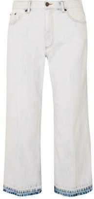 Marc Jacobs Cropped Bleached Boyfriend Jeans - Blue