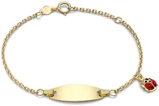 Ladybird Carissima Gold Girls' 18 ct Yellow Gold ID Bracelet with