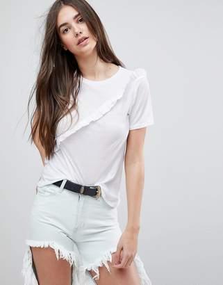 Glamorous Frill Detail T-Shirt