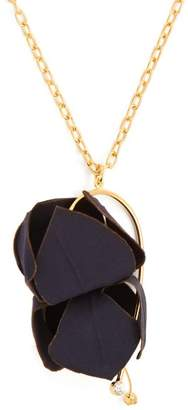 Marni Floral Pendant Necklace - Womens - Navy