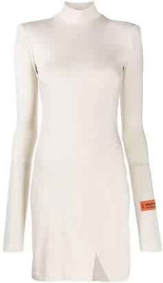 Heron Preston structured shoulder dress